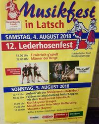 12. LEDERHOSENFEST & MUSIKFEST@Festplatz