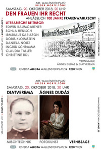 100 Jahre Frauenwahlrecht im Spiegel von Literatur und Kunst!@Osteria Allora