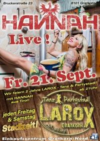 HANNAH - LIVE!@LAROX