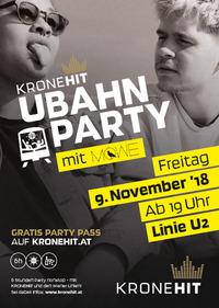 Die 8. KRONEHIT U-Bahn Party@U-Bahn-Linie U2 - Sonderzug