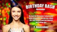 Birthday Basch | Geburtstagskinder November@Sugarfree