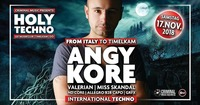 HOLY Techno with Angy Kore (Italy)@GEI Musikclub