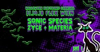 HALLOWEEN ELECTRONIC CARNIVAL mit Sonic Species, Zyce und Materia
