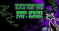 HALLOWEEN ELECTRONIC CARNIVAL mit Sonic Species, Zyce und Materia@Flex
