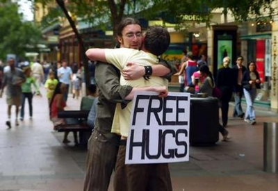Free hugs for the world
