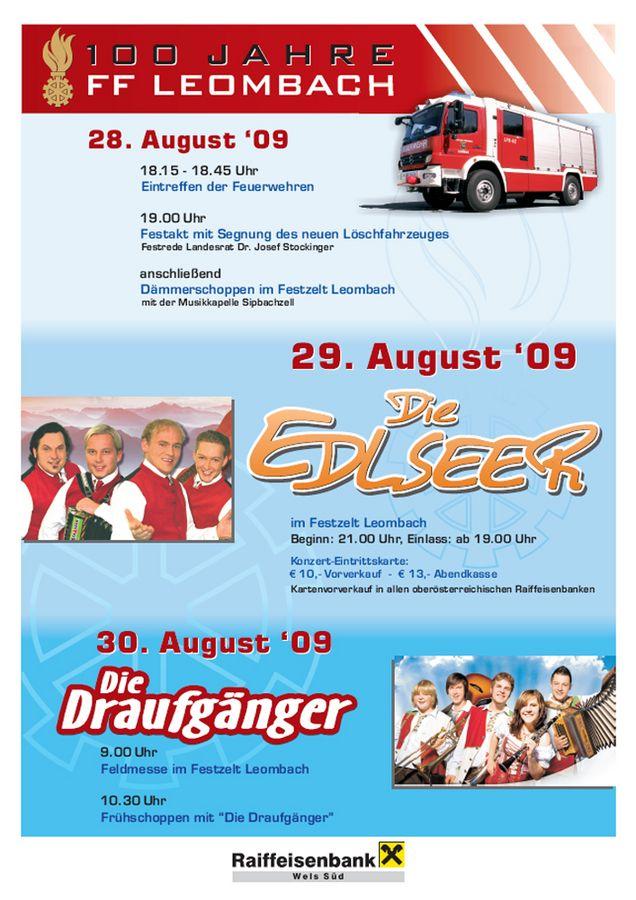 100 Jahre FF Leombach & Fahrzeugsegnung@Feuerwehrhaus Leombach