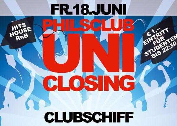 PhilsClub Uni Closing@Clubschiff