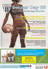 Soccerday & EM-Studio@Sportplatz Sportunion Neuhofen