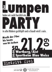 Lumpenparty@SportGH Blau Weiss