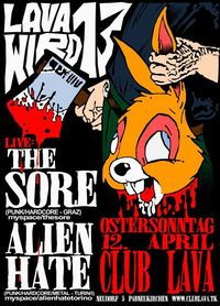 The Sore & Alien Hate@Club Lava