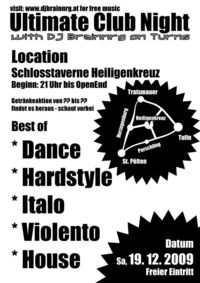 Ultimate Club Night@Schlosstaverne Heiligenkreuz