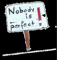nobody is perfect- I am nobody..!!!