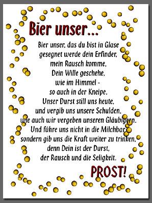 bier unser gebet
