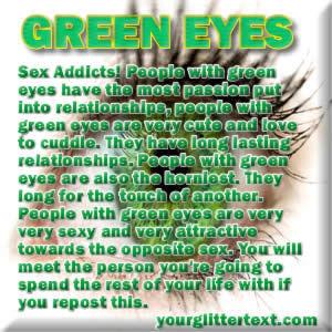 Augen sprüche grüne Ich Habe