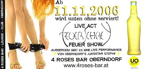 Unten ohne Party - 11.11.2006 - 4 Roses Bar
