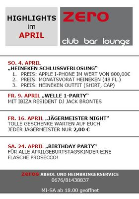 Gruppenavatar von Zero Club Bar Lounge(Gallneukirchen)