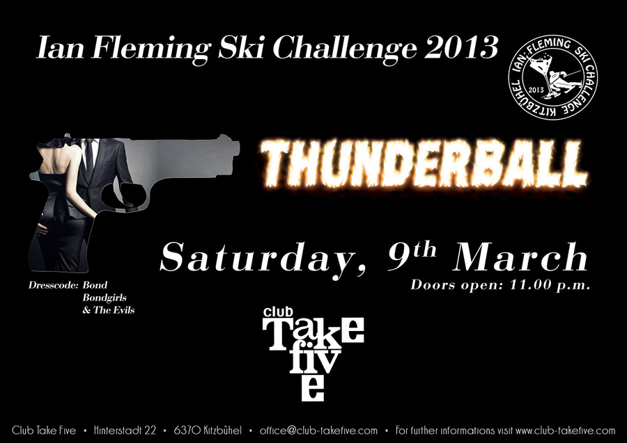 ian flemming ski challenge 2013 thunderball take five. Black Bedroom Furniture Sets. Home Design Ideas