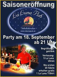 Saisoneröffnungsparty@La Luna Pub