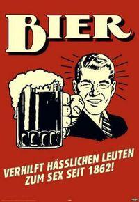 Das einzige Gemüse, das ich mag, ist das Bier.