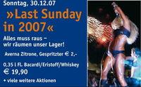 Last Sunday in 2007