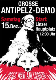 Grosse Anti Pelz Demo@Linzer Hauptplatz