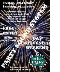 Party sound System - Das Silvester Weekend im Sidamo Mank@Cafe Sidamo Mank