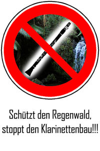 Gruppenavatar von Schützt den Regenwald, stoppt den Klarinettenbau!!!