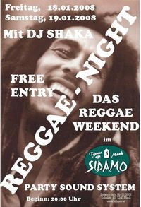 Reggae Night -  Das Reggae-Weekend im Sidamo Mank@Cafe Sidamo Mank