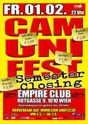 CAM Unifest Semesterclosing