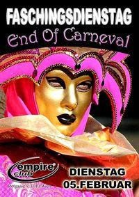End of Carneval Faschingsdienstag