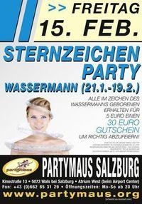 Sternzeichenparty Wassermann