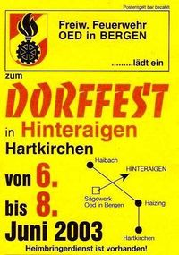 Dorffest Hinteraigen@ -