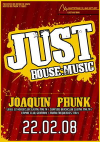Just House:Music – Joaquin Phunk@Herbers: Lust.auf.Bar