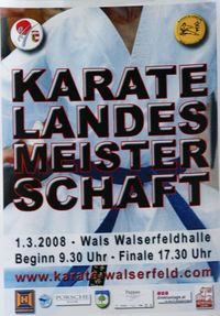 Karate Landesmeisterschaft Kategorie Kata