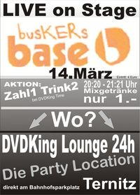 Busker Base Live on Stage die Rockband@DVDKing Lounge 24h Ternitz