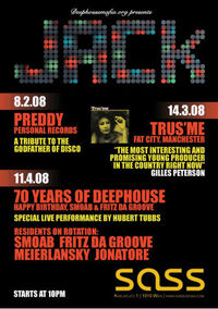 SASS Fridays - JACK: 70 Years of Deephouse@SASS