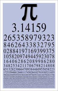 π = 3,14159 26535 89793 23846 26433 83279 50288 41971...