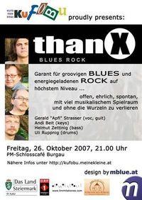 ThanX - Blues Rock@Schlosscafé Burgau