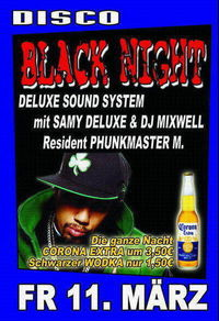 Black Night mit Samy Deluxe@Discothek P2
