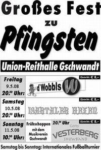 Gruppenavatar von Pfingstfest Gschwandt 2009: Das einzig wahre Bierzelt