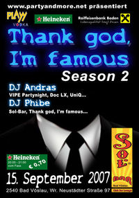 Thank god, I'm famous Season 2@Sol Bar