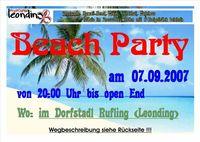 Beach-Party der Pfadfinder Leonding@Dorfstadl Rufling