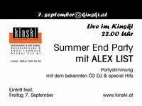 Summer End Party@Kinski