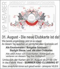 Summer End Clubbing 07@Fabrik West