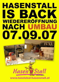 Opening Tanzlokal Hasenstall@Hasenstall