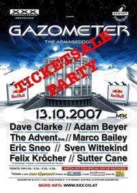 Gazometer Ticketsale Party@Pachanga