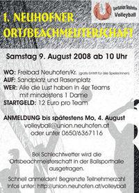 1. Neuhofner Ortsbeachmeisterschaft@Freibad Neuhofen an der Krems