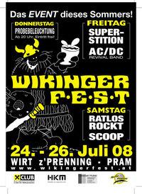 Wikingerfest 2008 - Probebeleuchtung@Wirt z´Prenning - Pram