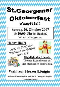 St.Georgener Oktoberfest@Veranstaltungssaal