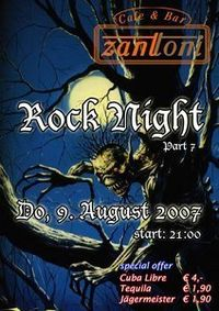 Rock Night Part VII@Cafe & Bar ZANTTONI
